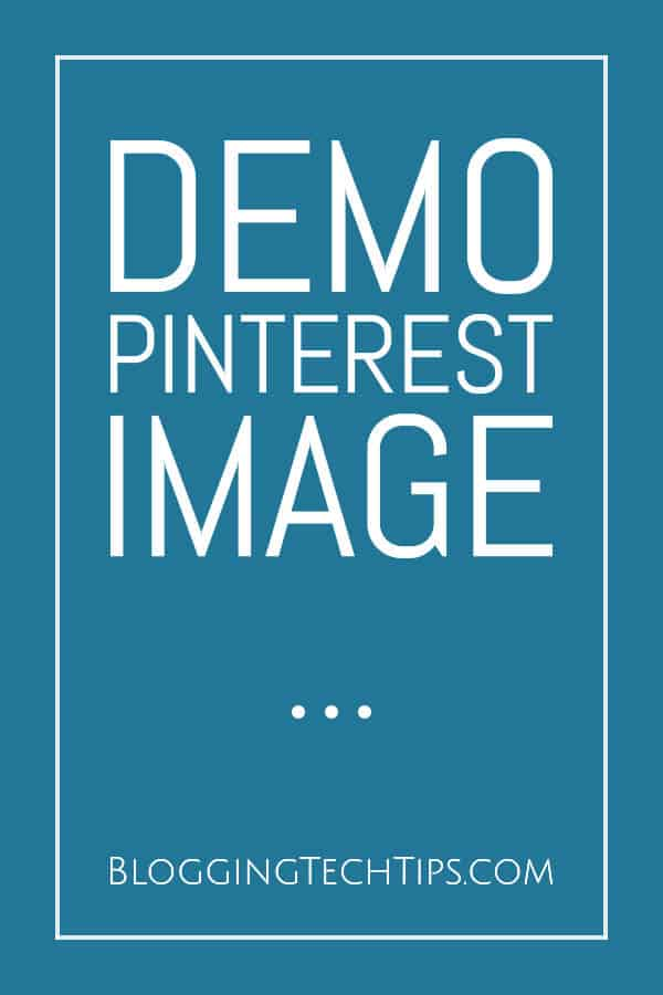 Displaying Pinterest Images - Demo Pin Image
