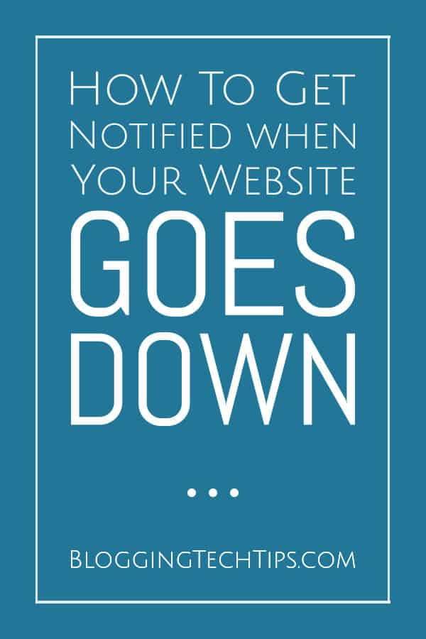Website Down - Website Monitoring with Uptime Robot